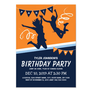 Trampoline Park Boys Kids Birthday Party Card
