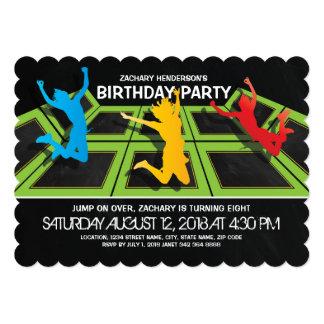 TRAMPOLINE PARK KIDS BIRTHDAY PARTY 13 CM X 18 CM INVITATION CARD