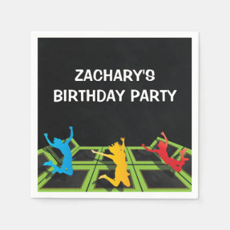 Trampoline Park Kids Birthday Party Disposable Napkins