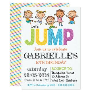 Trampoline Party Birthday Invitation