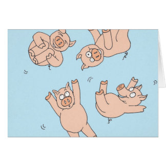 Trampoline Pigs Card