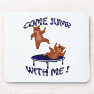 trampolining bears come jump mouse pad