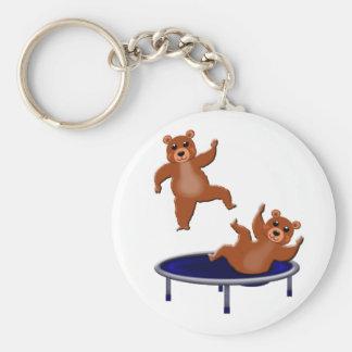 trampolining bears key ring