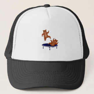 trampolining bears trucker hat