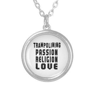 Trampolining Designs Round Pendant Necklace