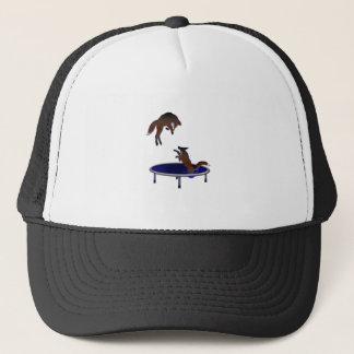 trampolining foxes trucker hat