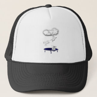 trampolining sheep or how clouds are made trucker hat