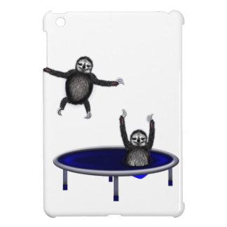 trampolining sloths iPad mini case