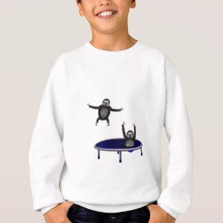 trampolining sloths sweatshirt