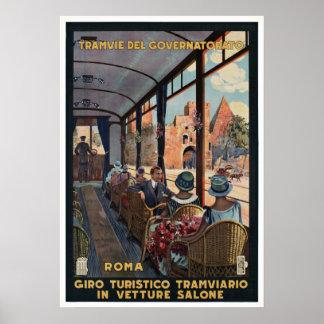 Tramvie Del Governatorato Rome Vintage Poster