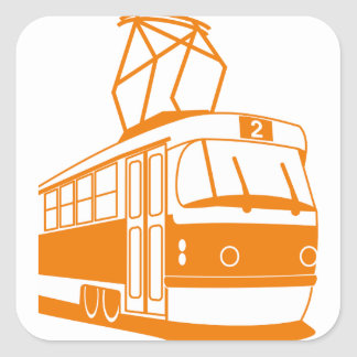 Tramway transportation electric square sticker