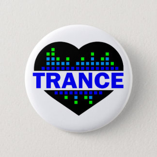 Trance Heart design 6 Cm Round Badge