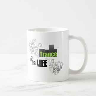 Trance Is Life Basic White Mug