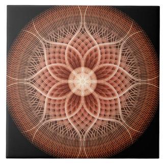 Trance Lotus Mandala Large Square Tile