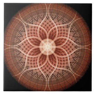 Trance Lotus Mandala Tile