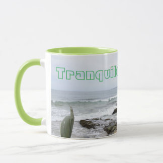 Tranqilo Sandy Beach Coffee Mug by Yotigo