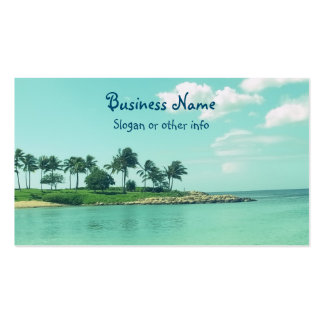 Tranquil and Serene Turquoise Beach in Hawaii Double-Sided Standard Business Cards (Pack Of 100)