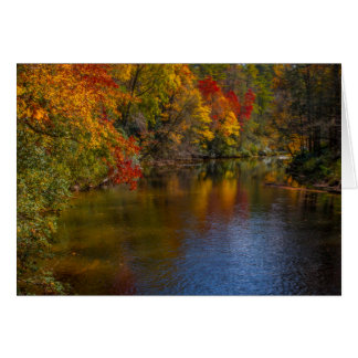 Tranquil Autumn on the River Greeting Card