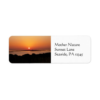 Tranquil Greek Sunset Return Address Labels