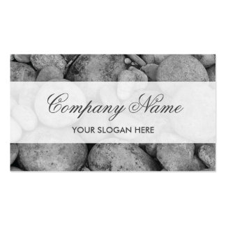 Tranquil grey pebble stones business card design