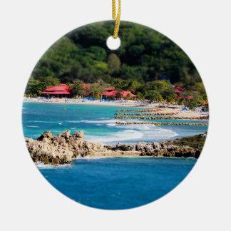 Tranquil Island Paradise Labadee Haiti Ceramic Ornament