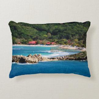 Tranquil Island Paradise Labadee Haiti Decorative Cushion