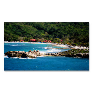 Tranquil Island Paradise Labadee Haiti Magnetic Business Cards