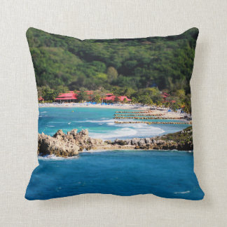 Tranquil Island Paradise Labadee Haiti Throw Pillow