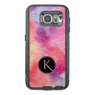 Tranquil Modern Watercolors Background OtterBox Samsung Galaxy S6 Case