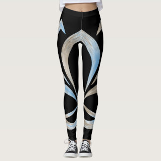Tranquil Moments (TM) Leggings  Black and white