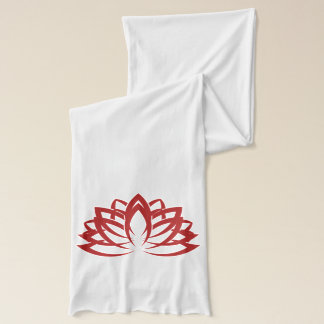 Tranquil Moments (TM) Lotus scarf red and white