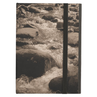 Tranquil Nature Sepia Rocky Creek Running Water Cover For iPad Air