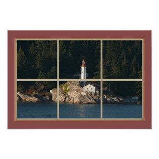 Tranquil Point Atkinson Lighthouse Poster