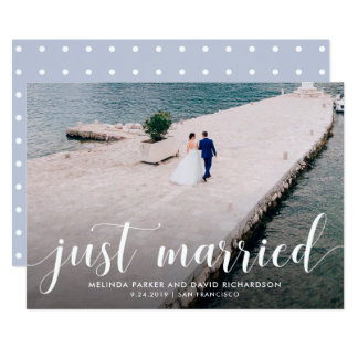Tranquil Seas | Just Married Photo Announcement