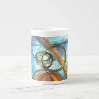 Tranquil Times Abstract Bone China Mug