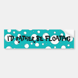 Tranquil Turquoise Bubbles Bumper Stickers
