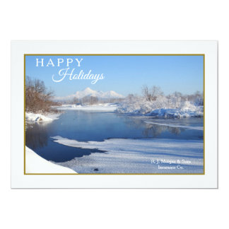 Tranquil Winter Scene Holiday Card