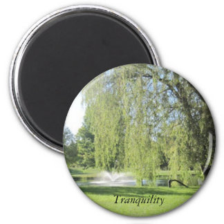 Tranquility 6 Cm Round Magnet