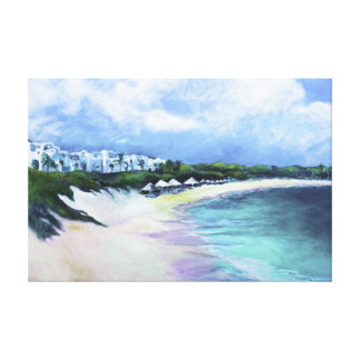 'Tranquility, Anguilla' by Kandy Cross Canvas Print