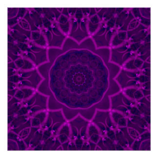Tranquility Fractal Kaleidoscope Poster