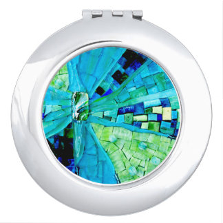 Tranquility Mosaic Compact Mirror