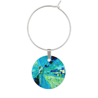 Tranquility Mosaic Wine Glass Charm