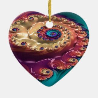 tranquilizing amble fractal ceramic ornament