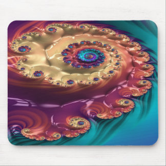 tranquilizing amble fractal mouse pad