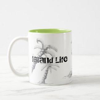 Tranquilo - Beach Life Palm Tree Mug by Yotigo
