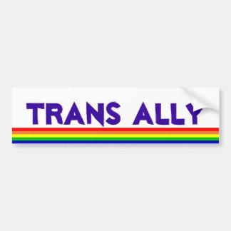 Trans Ally, rainbow Bumper Sticker