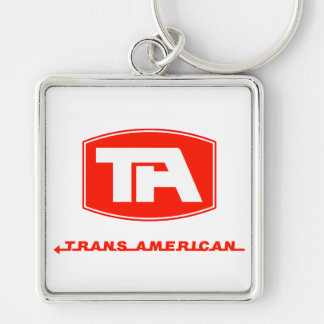Trans American Airlines (Red Text) Keychains
