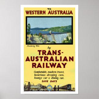 Trans-Australian Railway Poster