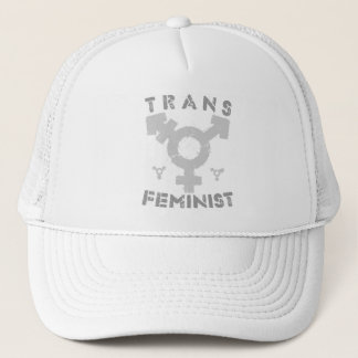 TRANS FEMINIST - For Liberation Of All Women, Gray Trucker Hat