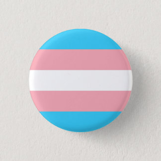 trans flag 3 cm round badge